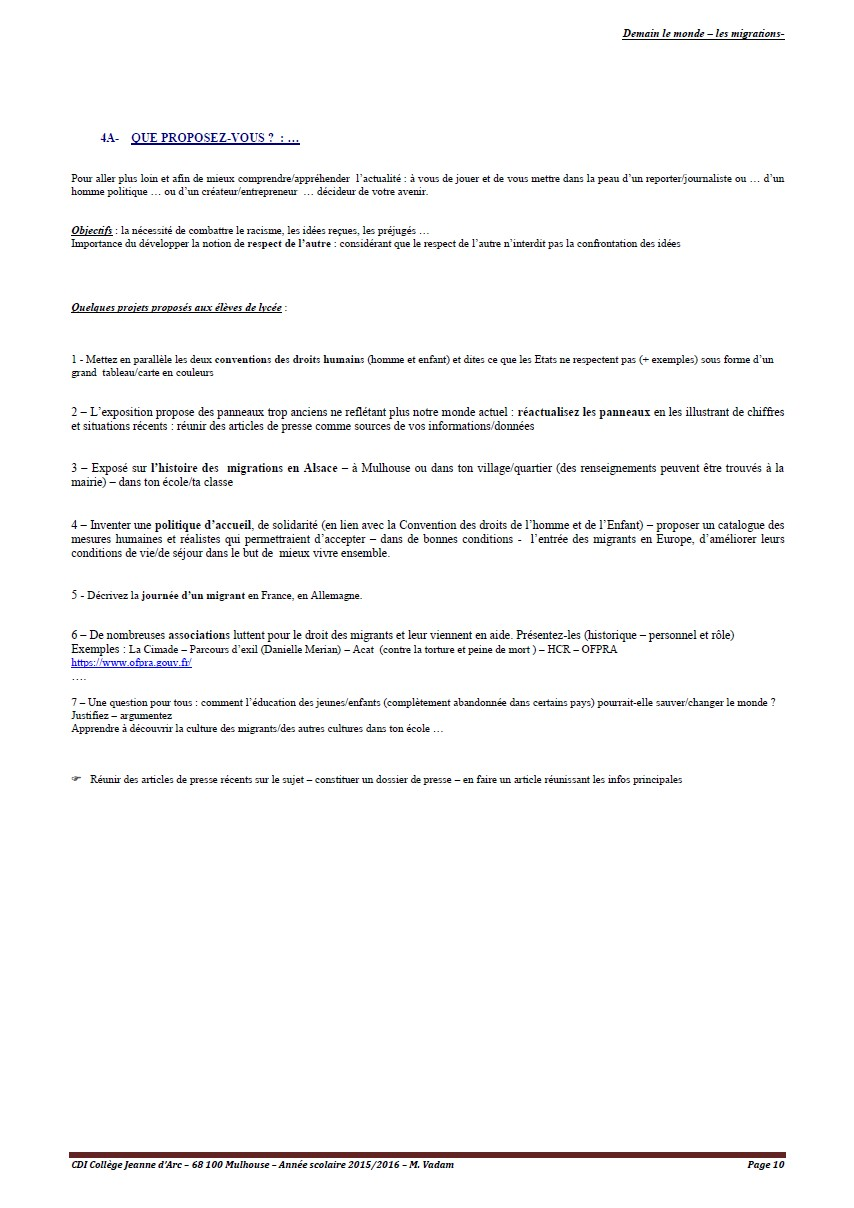 les migrations - page 10