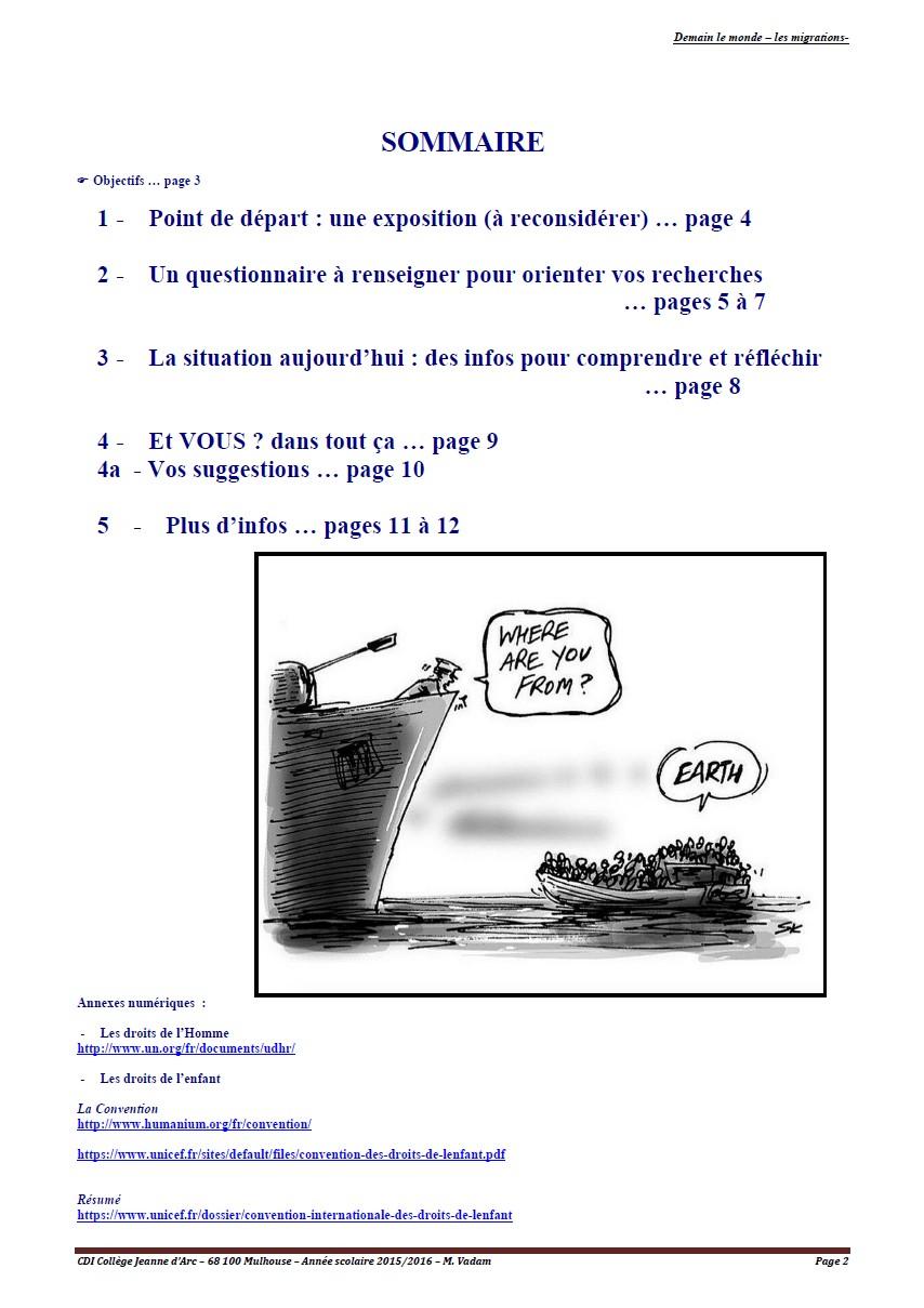 les migrations - page 2