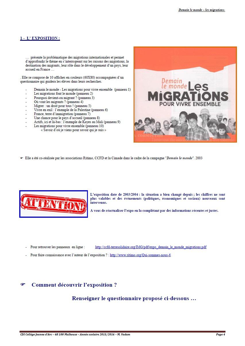 les migrations - page 4
