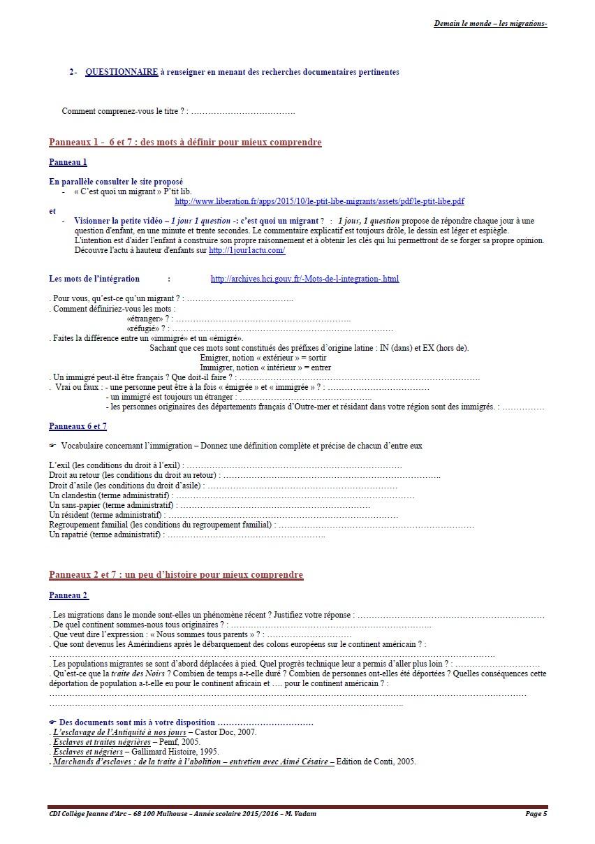 les migrations - page 5