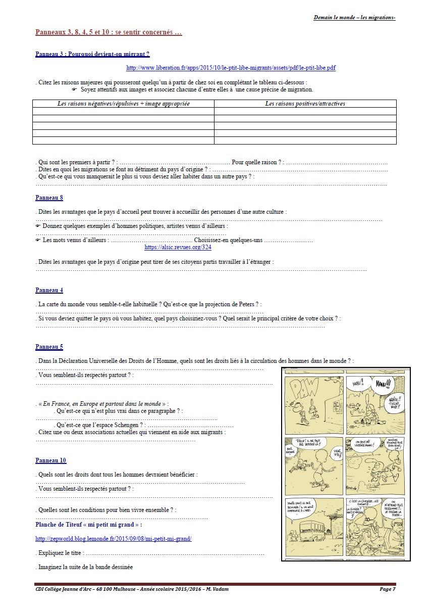 les migrations - page 7